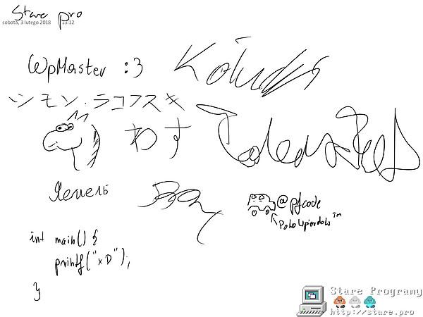 Podpisy uczestników zlotu